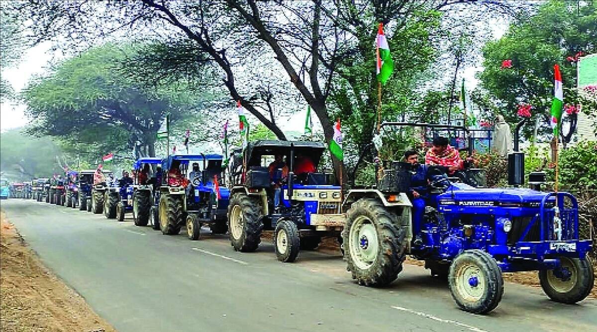 Indian Farmer's celebrate India's Republic day in style
