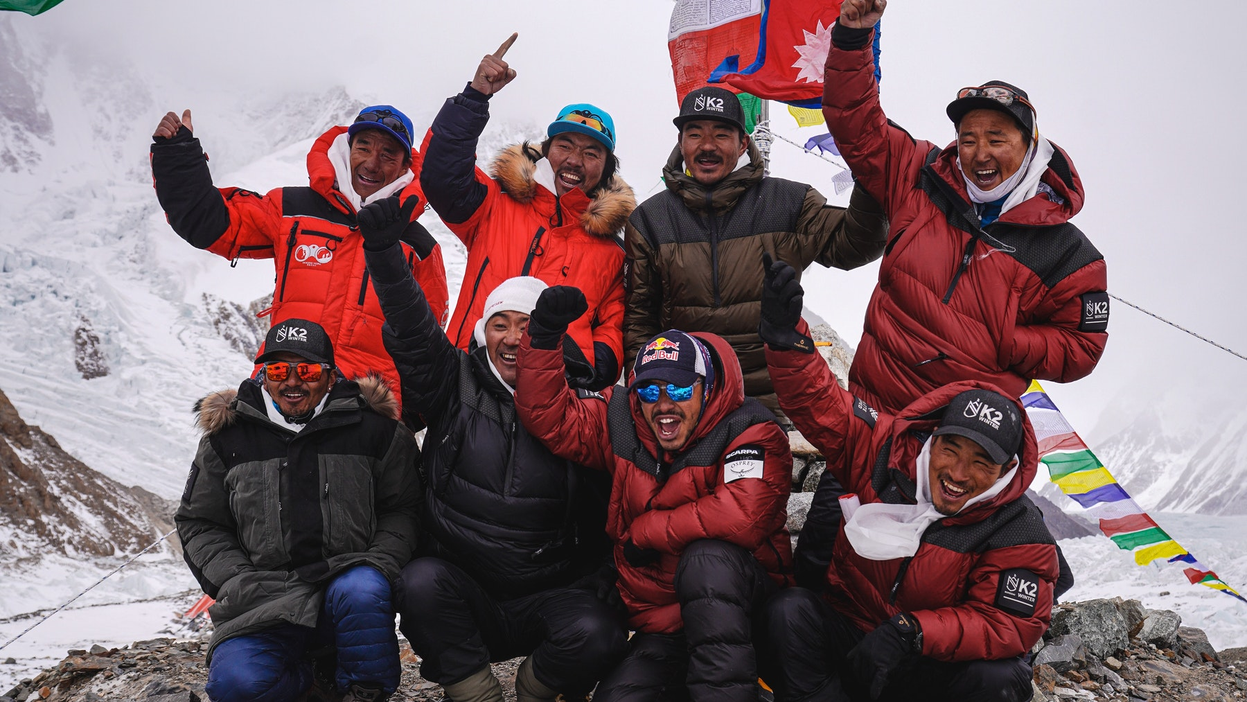 Nepali mountaineers create a world record by climbing Mount K2 in dreary winter conditions