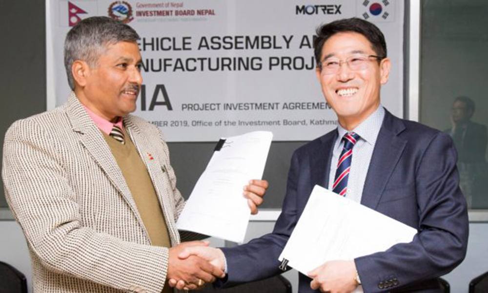 Korean automaker cleared to invest in Nepal – but no land provided for 2 years