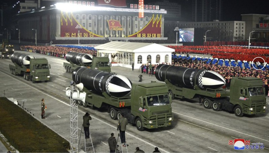 N.Korea parades weapons as Kim boasts nuclear might