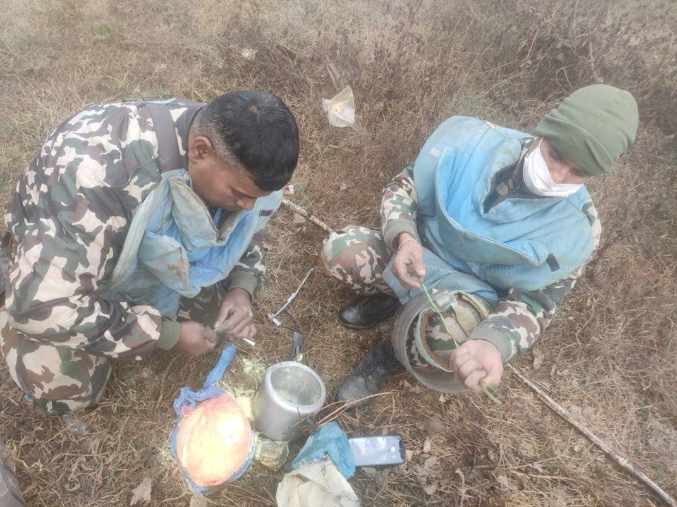 Bomb planted by Biplov Maoists safely disposed of in Banepa
