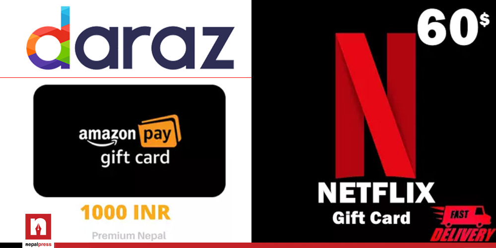 Daraz illegally selling Amazon and Netflix gift cards