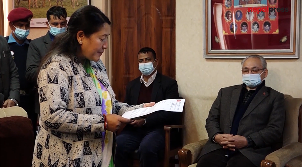 Memorandum submitted to Home Minister demanding action against protestors who chanted slogans against the President