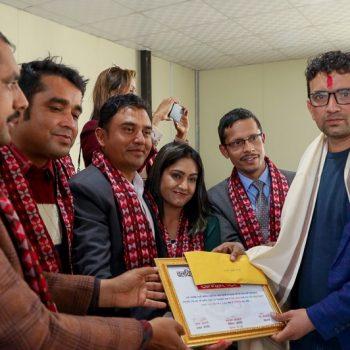 Bijaya Subedi  awarded with Central College National Film Journalism Award