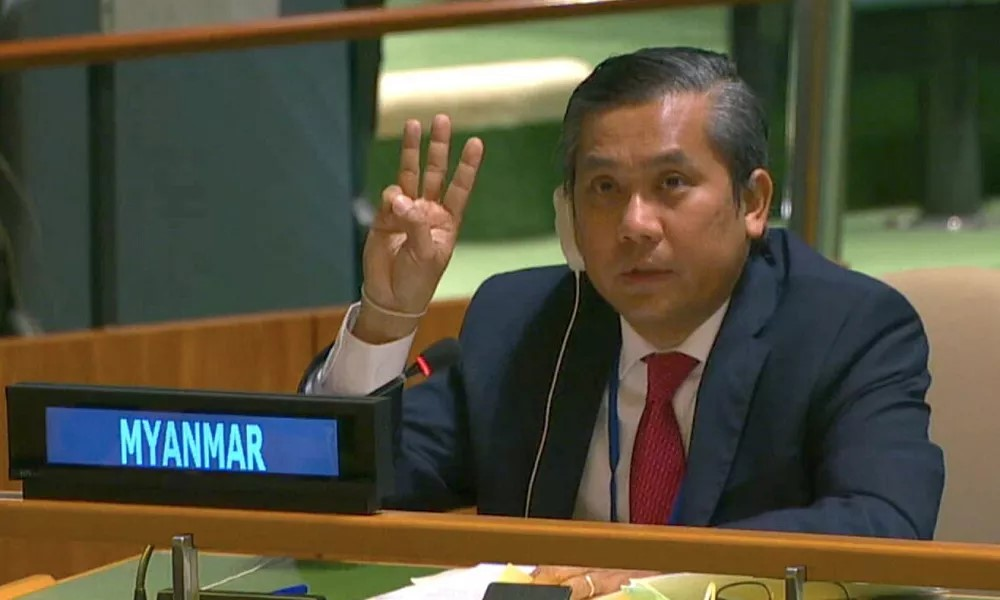Myanmar's Ambassador to United Nations fired after speaking against military government
