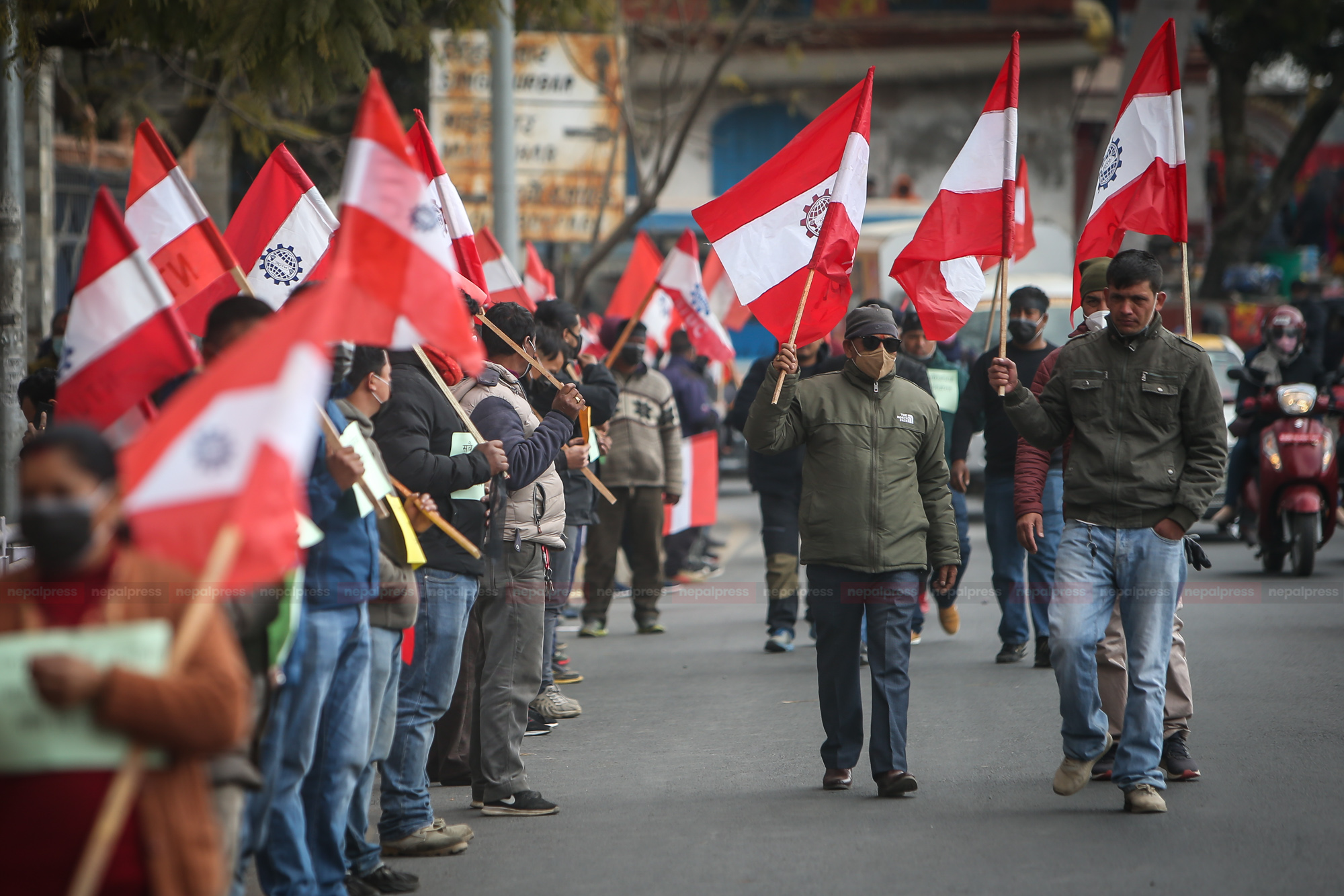 Anti-Government demonstration in 77 districts by Nepali Congress today