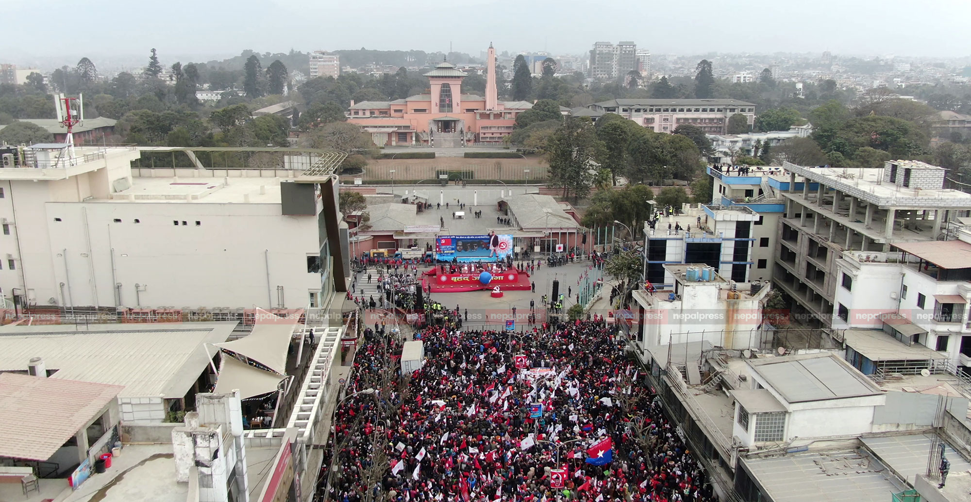 Power demonstration by Oli faction, processions in Kathmandu