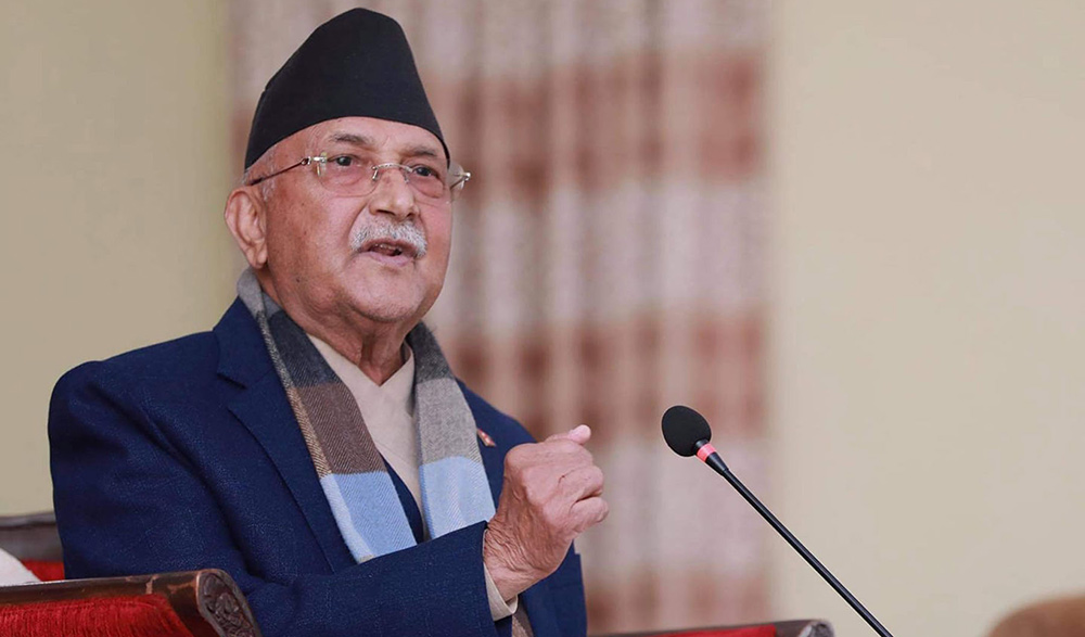 Border problems need to be resolved through serious diplomatic dialogue with India: PM Oli