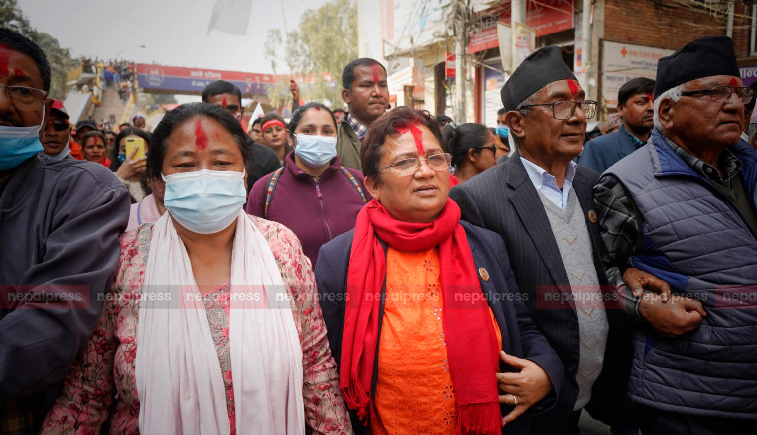 Victory procession by Prachanda-Madhav faction