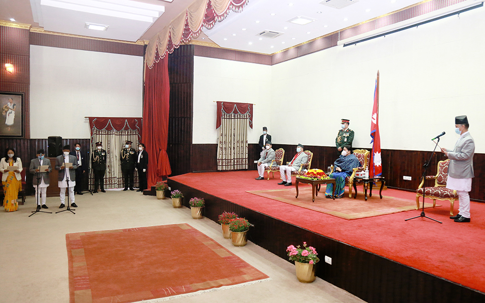 Impact of CPN split: Swearing-in Ceremony boycotted by Vice President