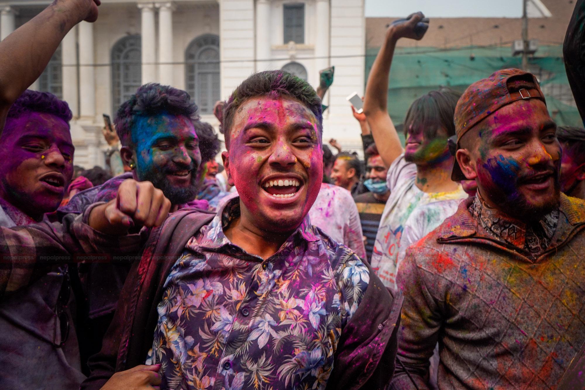 Celebration of Holi amidst COVID
