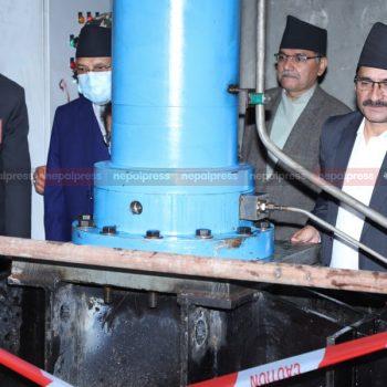 Melamchi water welcomed in Sundarijal