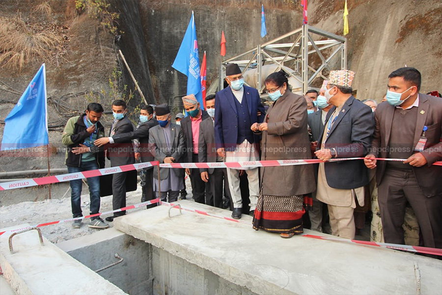 Melamchi water welcomed in Sundarijal