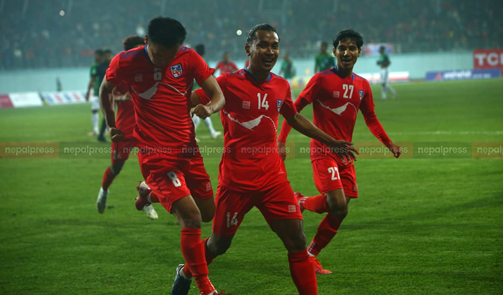 Nepali national football team wins first title in Dasharath Stadium since 1984