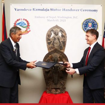 Statue stolen 37 years ago returned to Nepal by United States