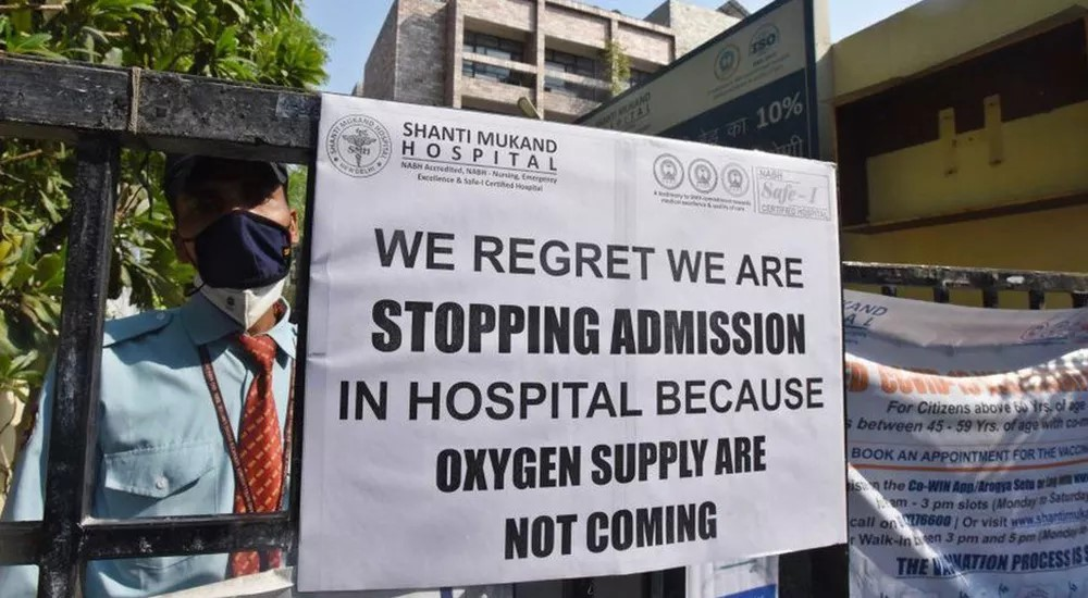 Patients in India dying due to lack of oxygen, number of infections and deaths soaring to break records everyday