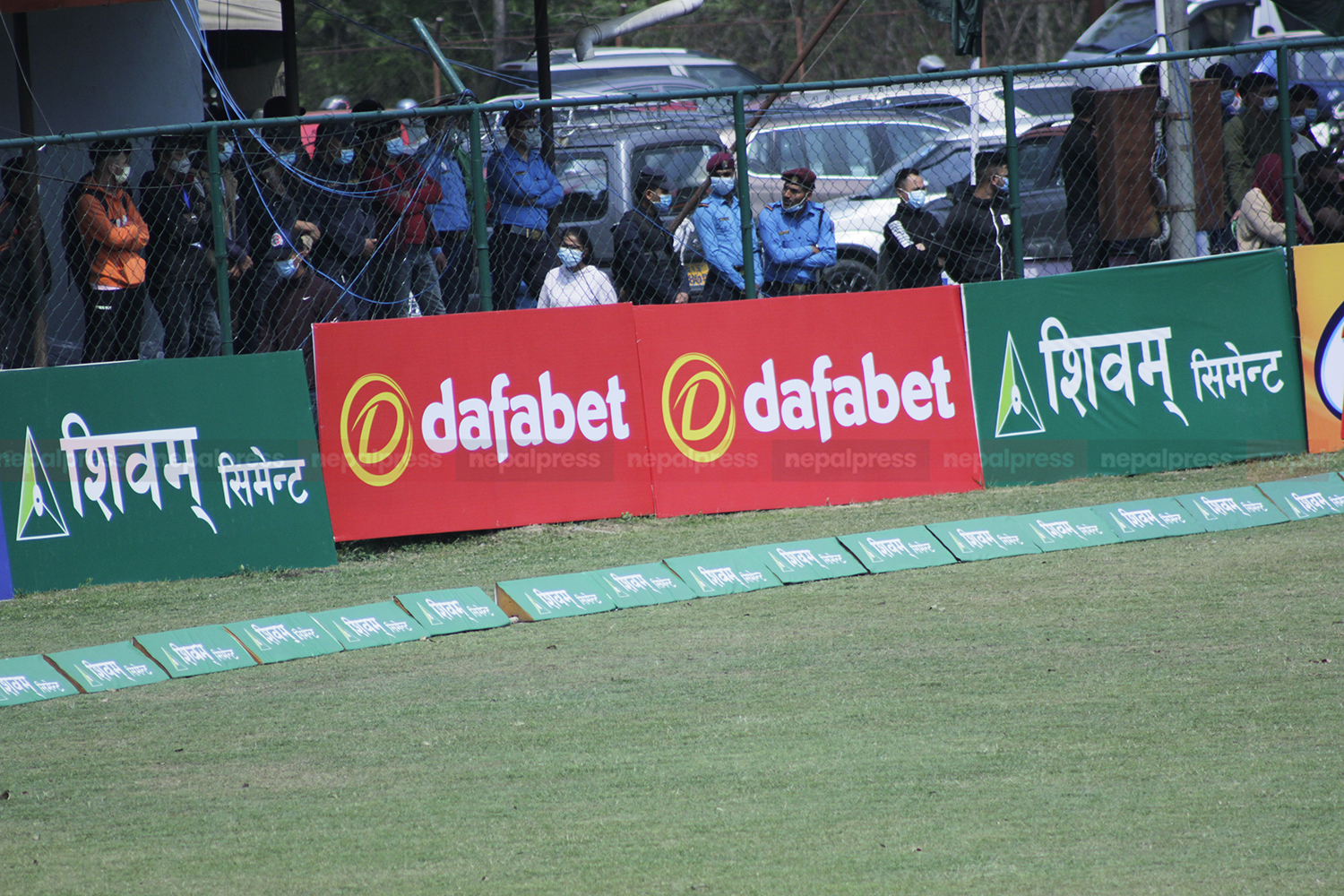 Board advertising illegal betting company removed from Tribhuvan Cricket Ground