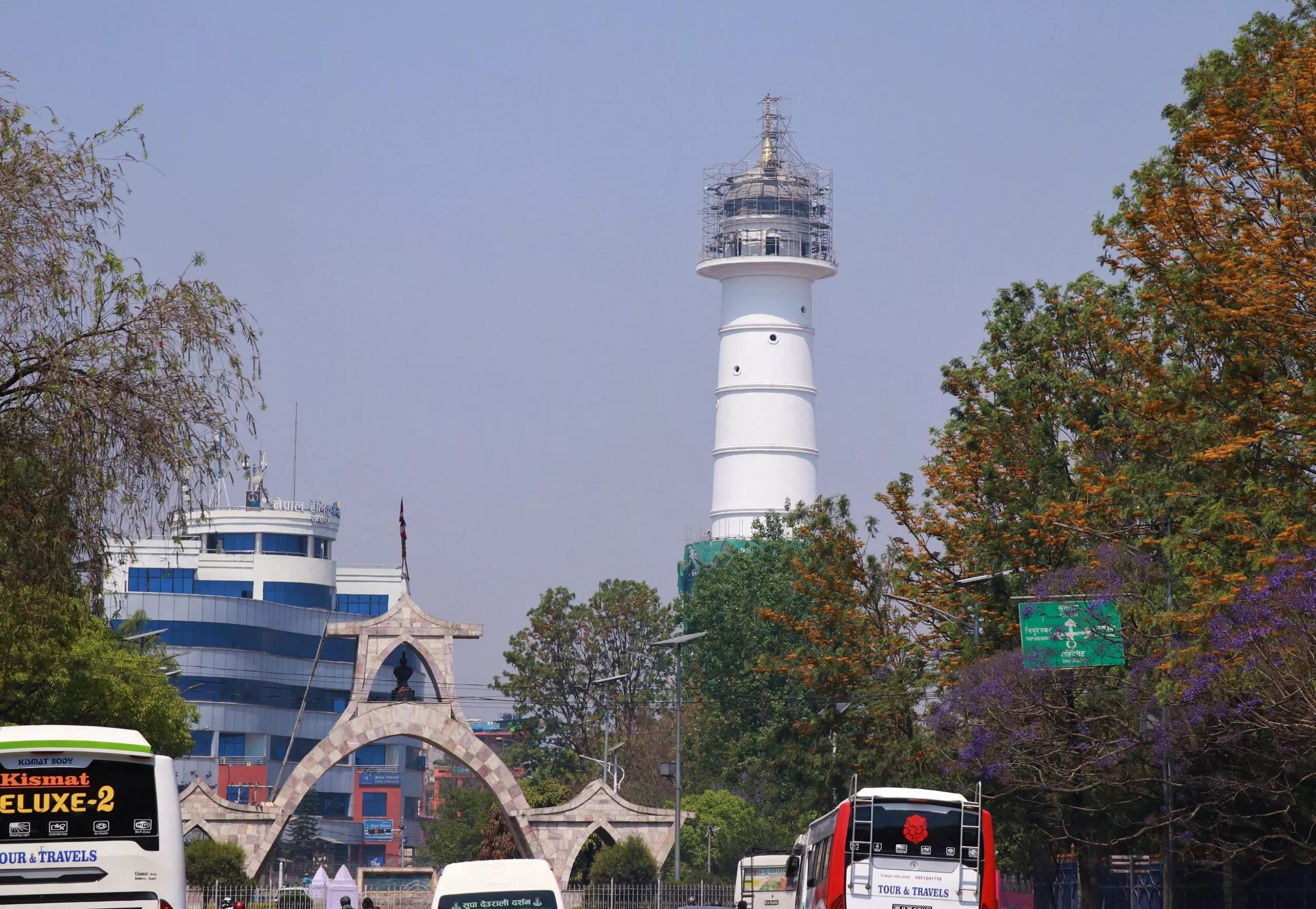 Newly constructed Dharahara being inaugurated today