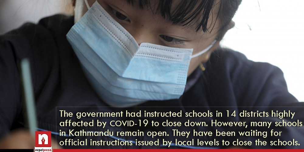 Government directive not abided to by municipalities of Kathmandu, more than half schools remain open