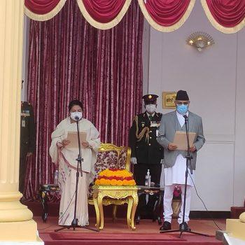 Oli takes oath as PM