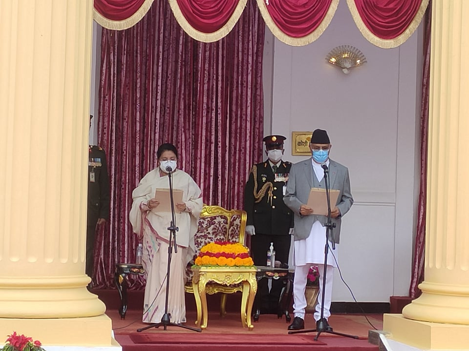 Oli takes oath as 43rd Prime Minister of Nepal