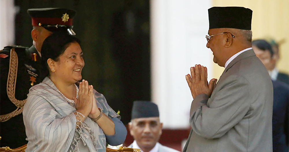 UML chairperson Oli appointed Prime Minister after others failed to secure a majority