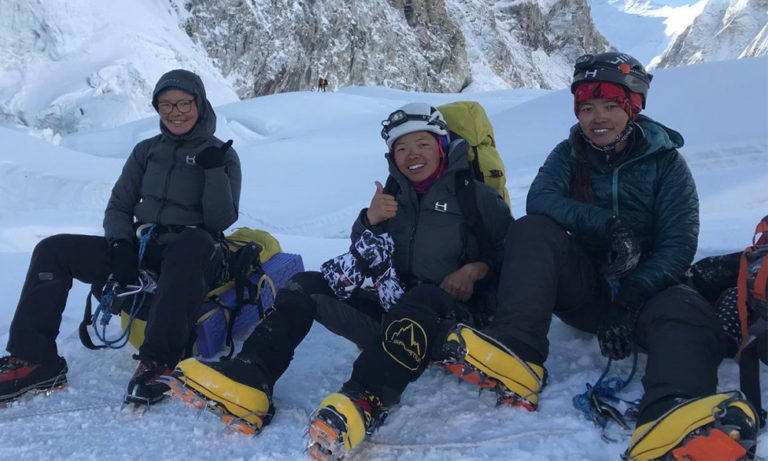 Three sisters from Dolakha successfully climb Mount Everest