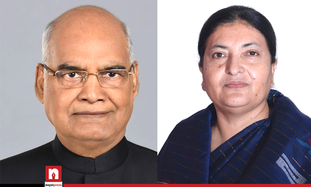 Special request for vaccine supply by President Bhandari to Indian counterpart via correspondence