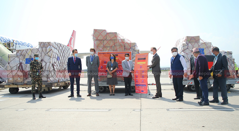 Health supplies sent from Germany to Kathmandu handed over to Health Minister