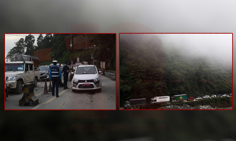 Traffic congestion at Kathmandu entry points
