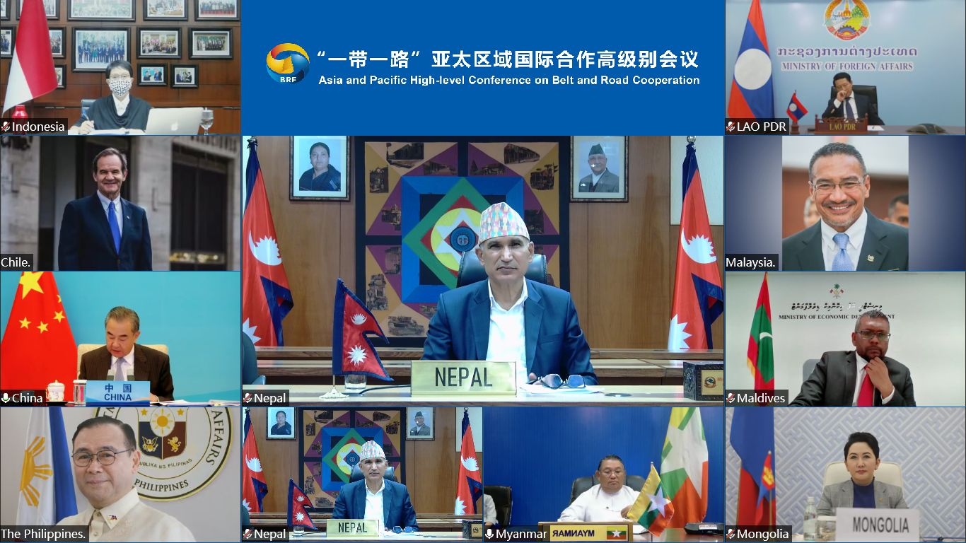 Discussions held by China with 30 countries including Nepal, providing vaccines and development assistance to BRI member countries