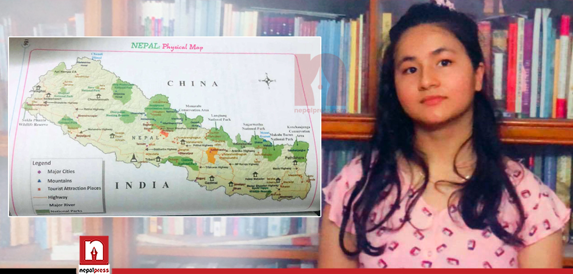 When a 14-year-old student did not find the new map of Nepal in her textbook