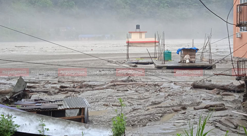 Fifty people go missing due to Melamchi flood, nearby markets drown