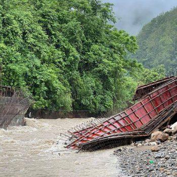 Flood sweeps away two bridges in East Nawalparasi