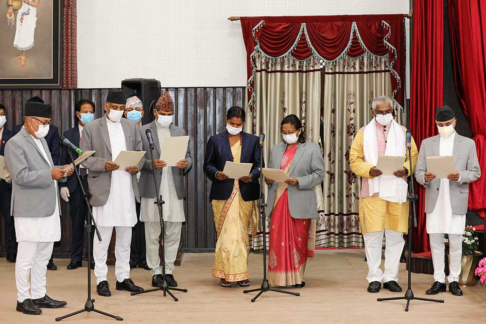 Eight new ministers sworn in