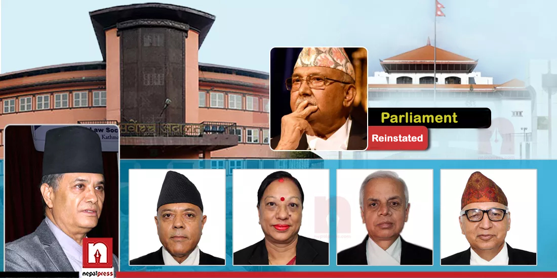 Dissolved parliament reinstated: Decision by Supreme Court