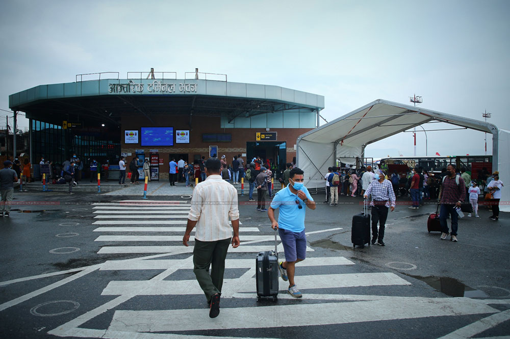 Bustle of the Kathmandu airport increases after the opening of domestic flights