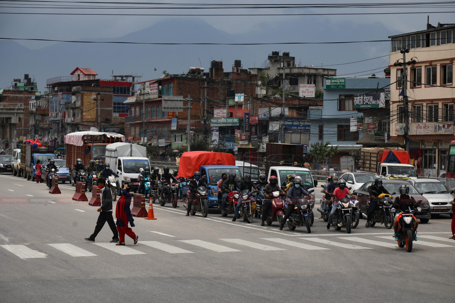 Traffic congestion observed in Kathmandu after 66 days