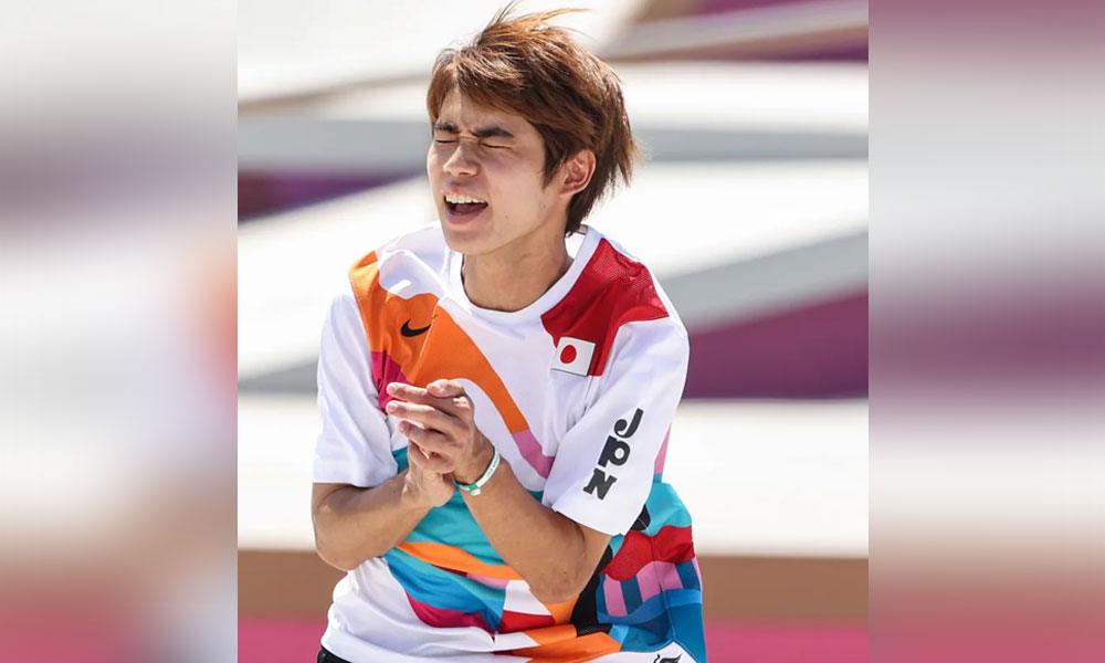 Japan's Yuto wins 1st ever Olympic skateboard gold