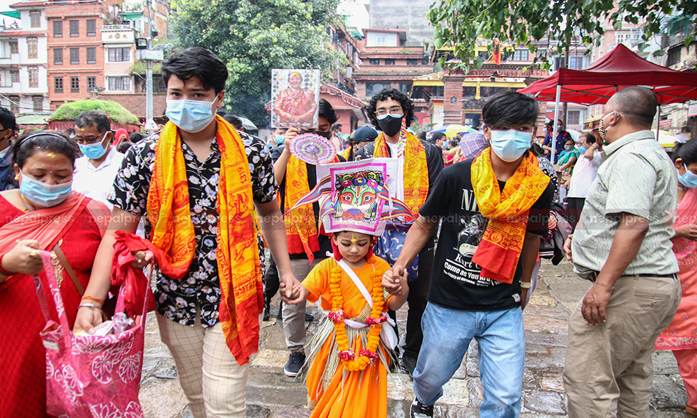 Gaijatra being observed with much fanfare amidst pandemic (With photos)