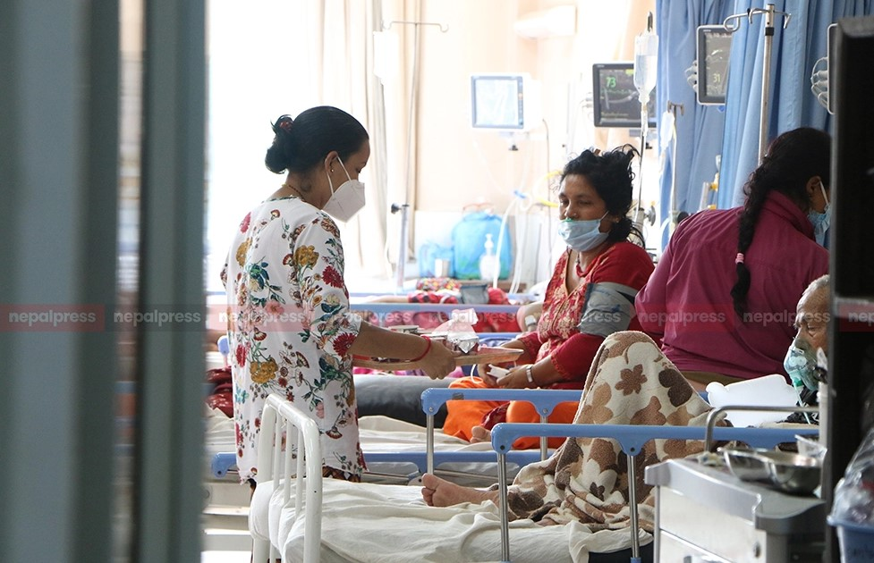 Major hospitals of Kathmandu overwhelmed with Covid-19 patients (With video)