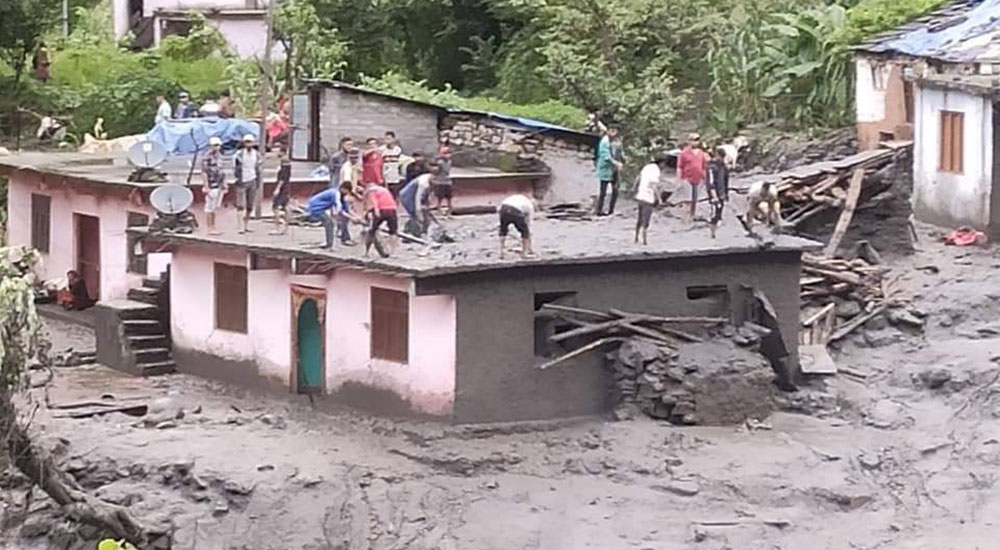 3 including 2 of single family killed in Darchula flood and landslide