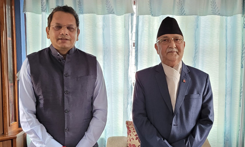 BJP leader Chauthaiwale meets UML Chair Oli