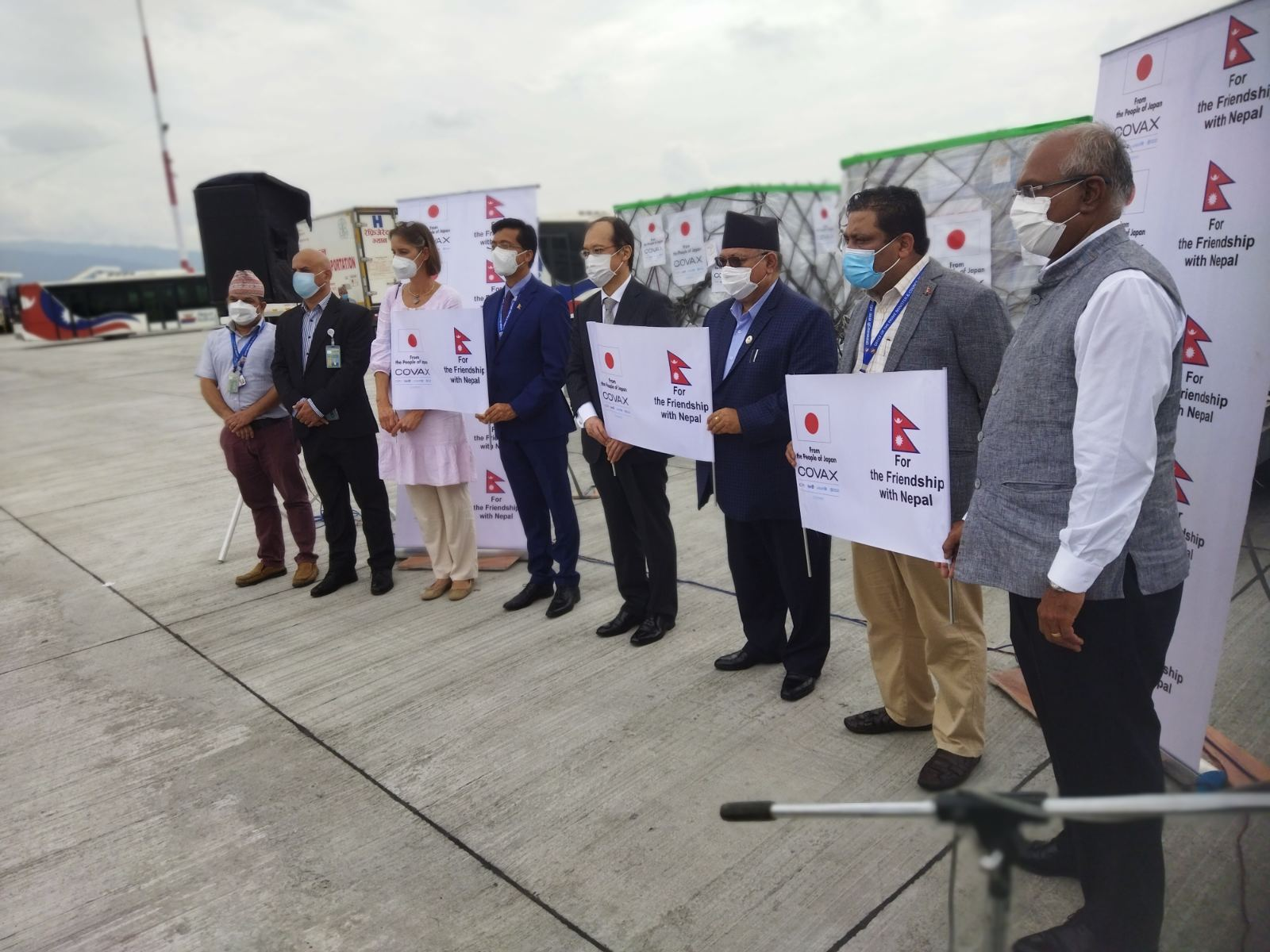 More than 300,000 doses of Japan-donated AstraZeneca vaccines arrive in Nepal