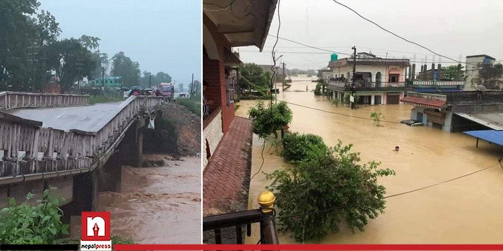 Southern region of Rupandehi, Kapilvastu, Nawalparasi inundated following incessant rainfall