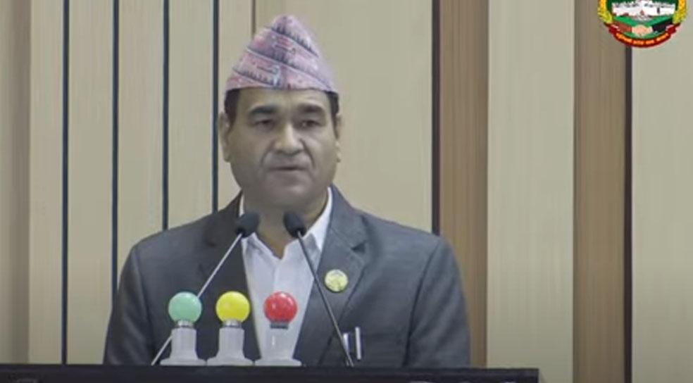 Lumbini Province CM Kul Prasad KC seeks vote of confidence