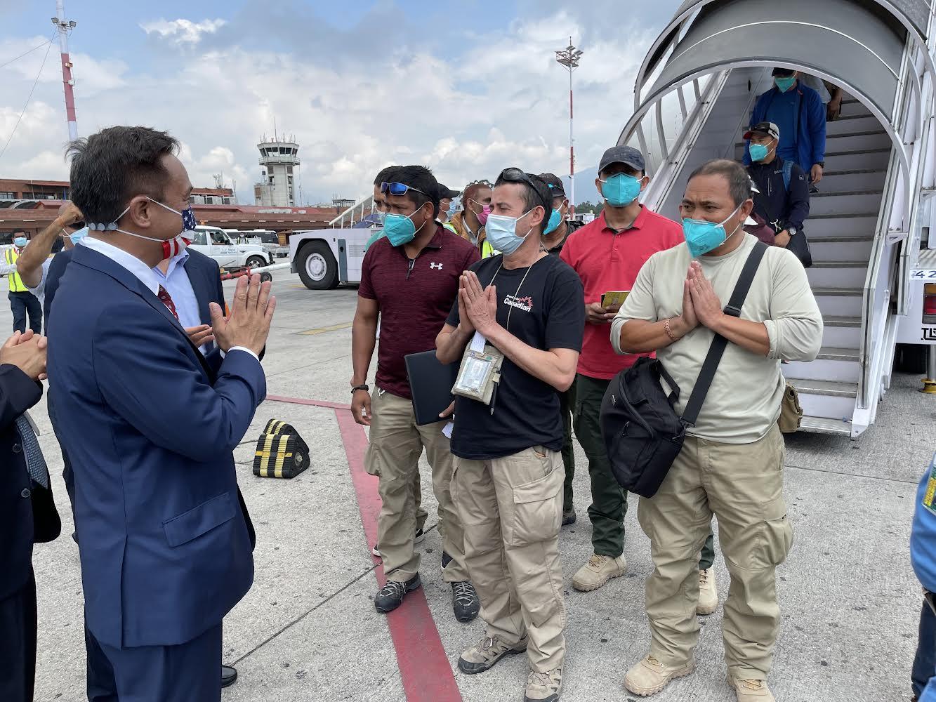 118 Nepalis rescued by US Army arrive in Kathmandu
