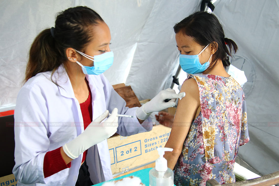 Govt starts administrating second dose of Vero Cell vaccine in Kathmandu (With photos)