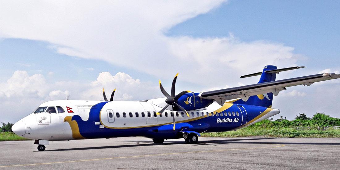 Buddha Air aircraft makes force landing at TIA (With video)