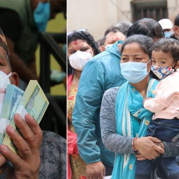 Banks, cooperatives start distributing new banknotes for Dashain festival (With Photos)